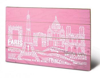 Pintura em madeira  Paris - Citography