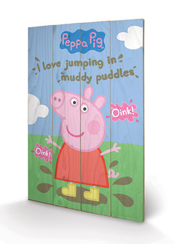 Pintura em madeira Peppa Pig - Muddy Puddles