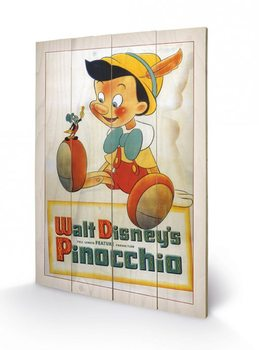 Pintura em madeira Pinocchio - Conscience