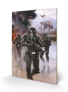 Pintura em madeira Rogue One: Star Wars Story - Death Trooper Beach