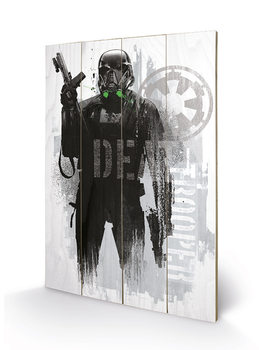 Pintura em madeira Rogue One: Star Wars Story - Death Trooper Grunge