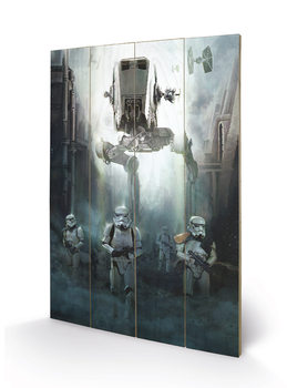 Pintura em madeira  Rogue One: Star Wars Story - Stormtrooper Patrol