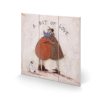 Pintura em madeira Sam Toft - A Bit of Love