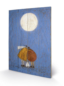Pintura em madeira  Sam Toft - A Moon To Call Their Own