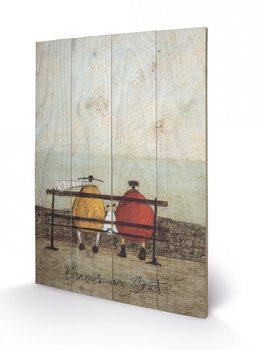 Pintura em madeira Sam Toft - Bums on Seat