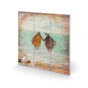 Pintura em madeira Sam Toft - Happy Days