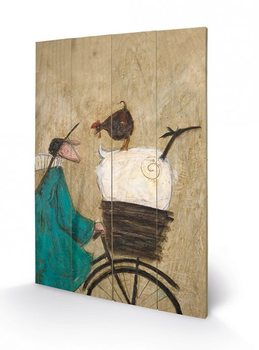 Pintura em madeira  SAM TOFT - taking the girls home