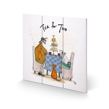 Pintura em madeira  Sam Toft - Tea for Two - Colour