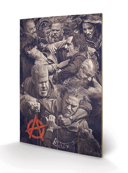Pintura em madeira Sons of Anarchy - Fight