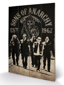 Pintura em madeira Sons of Anarchy - Reaper Crew