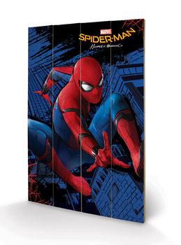 Pintura em madeira  Spider-Man Homecoming - City