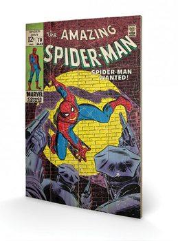 Pintura em madeira Spiderman - Wanted