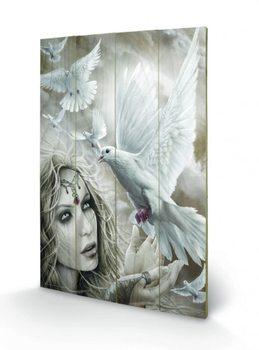 Pintura em madeira Spiral - Doves of Peacel
