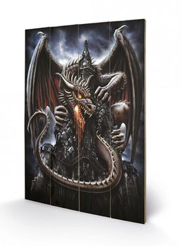 Pintura em madeira Spiral - Dragon Lava