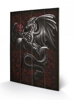 Pintura em madeira Spiral - Dragon Rose