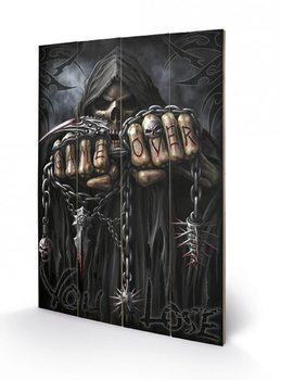 Pintura em madeira Spiral - Game Over - Reaper