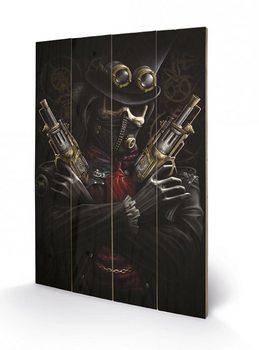 Pintura em madeira SPIRAL - steampunk bandit