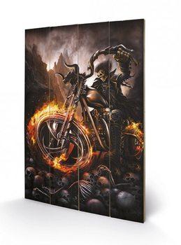 Pintura em madeira SPIRAL - wheels of fire