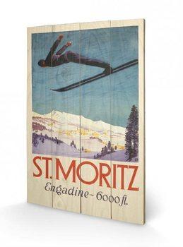 Pintura em madeira St. Moritz