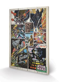 Pintura em madeira Star Wars - Retro Comic