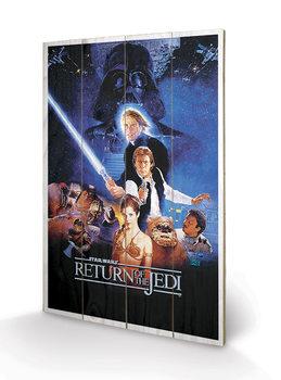 Pintura em madeira Star Wars: Return Of The Jedi - One Sheet