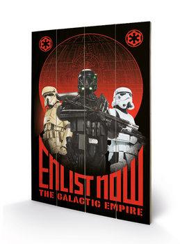 Pintura em madeira Star Wars Rogue One - Enlist Now