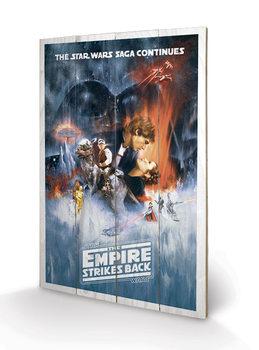 Pintura em madeira Star Wars: The Empire Strikes Back - One Sheet