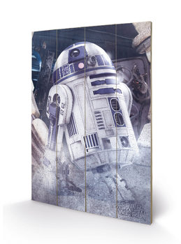 Pintura em madeira Star Wars The Last Jedi - R2-D2 Droid