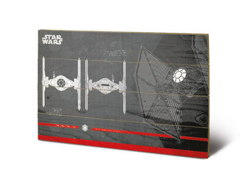Pintura em madeira  Star Wars The Last Jedi - Tie Fighter Plans