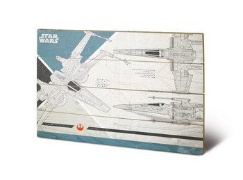 Pintura em madeira Star Wars The Last Jedi - X-Wing Plans
