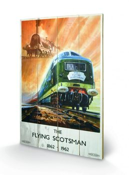Pintura em madeira Tank Engine - The Flying Scotsman