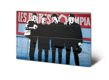 Pintura em madeira The Beatles In Paris