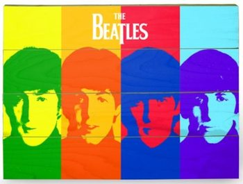 Pintura em madeira The Beatles - Pop Art