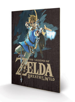 Pintura em madeira The Legend of Zelda: Breath of the Wild - Game Cover
