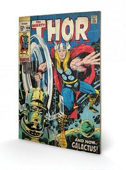 Pintura em madeira  Thor - Galactus