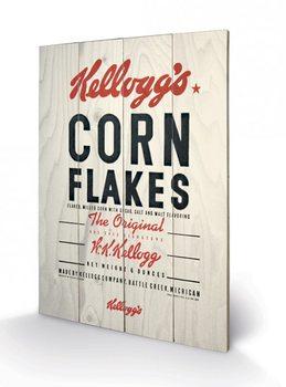 Pintura em madeira VINTAGE KELLOGGS - corn flakes