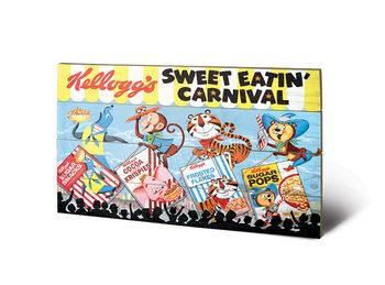 Pintura em madeira Vintage Kelloggs - Sweet Eatin' Carnival Land