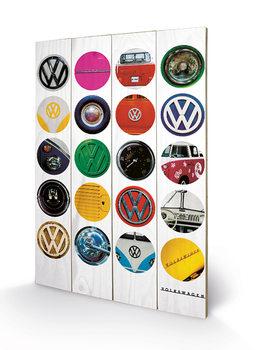 Pintura em madeira VW - Collage