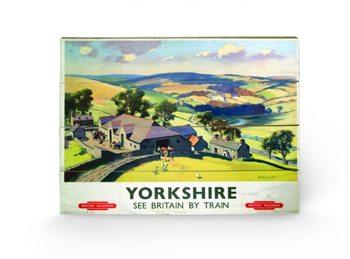 Pintura em madeira  Yorkshire by Train