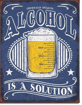 Placa de metal  Alcohol - Solution