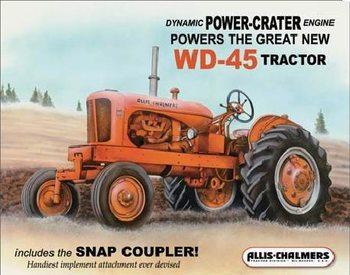 Placa metálica ALLIS CHALMERS - wd45