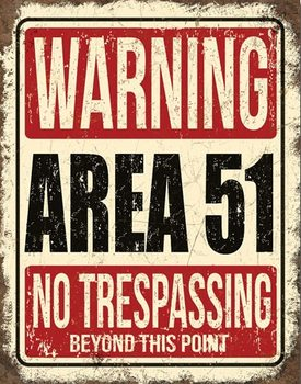 Placa de metal Area 51