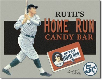 Placa de metal Babe Ruth – Candy Bar