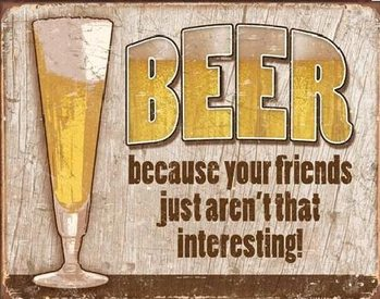 Placa de metal  BEER - your friends