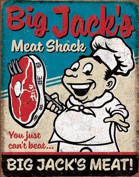 Placa de metal Big Jack's Meats