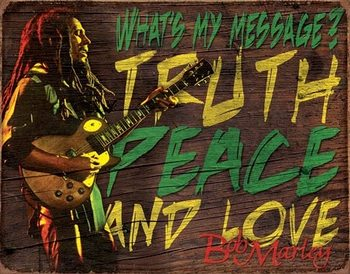 Placa de metal  Bob Marley - Message
