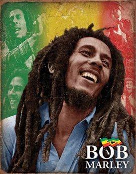 Placa de metal Bob Marley - Mosaic