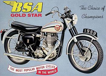 Placa de metal BSA GOLDSTAR