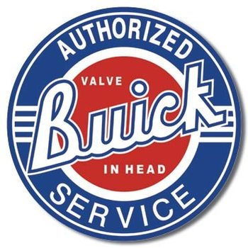 Placa de metal BUICK SERVICE