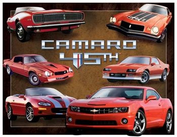 Placa de metal Camaro 45th Anniversary